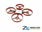 ZealHeli ZH 75mm Brushed Whoop Kit + 4pcs 40mm Propellers (Red)