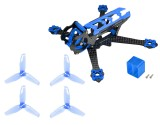 Microheli Carbon Fiber Frame (BLUE) with Props - EMAX Tinyhawk / Tinyhawk II Freestyle