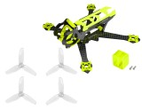 Microheli Carbon Fiber Frame (YELLOW) with Props - EMAX Tinyhawk Freestyle 115mm