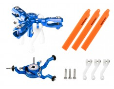 Microheli CNC Triple Orange Blades Conversion Set (BLUE) - BLADE NANO CPX/S/S2