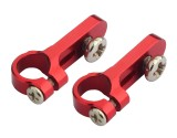 Microheli Aluminum Tail Servo Mount Round (RED) (for MH-DS002HV)