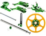 Microheli CNC Blade 130 X Performance package (GREEN) - BLADE 130X