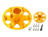 Microheli Aluminum Main Gear Hub (GOLD) (for MH-18FX069 series)