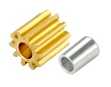Microheli CNC Brass Pinion 10T 0.4M 1.99mm Bore w/ Spacer - BLADE 180 CFX / 130 S