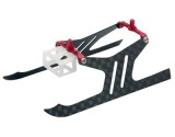 Microheli Carbon Fiber Landing Gear set (RED) - BLADE MSRX / S