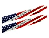 Microheli Plastic USA Flag Main Blade 135mm - BLADE 130X