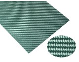 Microheli High Gloss Twill Weave Carbon Fiber Sheet 200 x 100 x 0.6mm (GREEN)