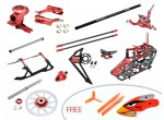 Microheli CNC Performance package (RED) - BLADE 130 S