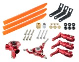 Microheli CNC AL/Plastic Triple Orange Blade Conversion set (RED) - BLADE 130 S