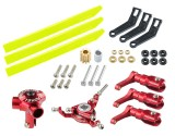 Microheli CNC AL/Plastic Triple Yellow Blade Conversion set (RED) - BLADE 130 S