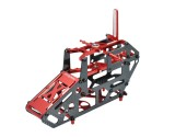 Microheli Aluminum/Carbon Fiber Main Frame (RED) - BLADE 130 S