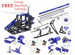 Microheli CNC Blade 180 CFX Performance Combo Package (BLUE/PURPLE) - BLADE 180 CFX