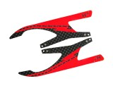"Microheli Carbon Fiber Landing Skids ""I"" Style (RED) (for MH Landing Gear series)"