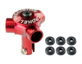 Microheli CNC AL Tri-Blade Main Rotor w/ Button (RED) (for Triple Blade series)