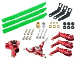 Microheli CNC AL/Plastic Triple Green Blade Conversion set (RED) - BLADE 180 CFX