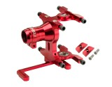 Microheli Aluminum Tail Boom Mount/Servo (RED) - BLADE 180 CFX