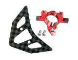 Microheli Aluminum Tail Boom Support Mount w/ Fin (RED) - BLADE 180 CFX