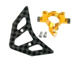 Microheli Aluminum Tail Boom Support Mount w/ Fin (GOLD) - BLADE 180 CFX