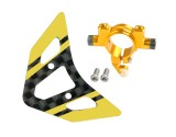 Microheli Aluminum Tail Boom Support Mount w/ Fin (G) - BLADE 180 CFX