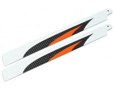 Microheli Carbon Fiber Main Blades 186mm (ORANGE) - BLADE 200 SRX / 200 S