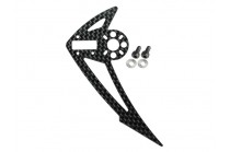 "Microheli Carbon Fiber Vertical Fin ""F"" (for MH Tail Motor Mount w/ Fin ""F"" set series)"