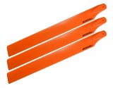 Microheli Plastic Triple Main Blade (For MH-23V2001TOR Series)(ORANGE)