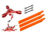 Microheli CNC Triple Orange Plastic Blades Conversion set (RED) - BLADE 230S / 230S V2