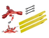 Microheli CNC Triple Yellow Plastic Blades Conversion set (RED) - BLADE 230S / 230S V2