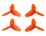 Microheli Plastic 3-Blade Propeller 40mm/1.0mm Shaft CW/CCW Set (ORANGE)