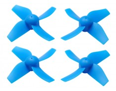 Microheli Plastic 4-Blade Propeller 31mm/0.8mm Shaft CW/CCW Set (BLUE) - BLADE INDUCTRIX FPV /PRO