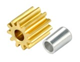 Microheli CNC Brass Pinion 11T 0.4M 1.98mm Bore w/ Spacer - BLADE 180 CFX  / 130 S