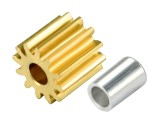 Microheli CNC Brass Pinion 12T 0.4M 1.98mm Bore w/ Spacer - BLADE 180 CFX / 130 S