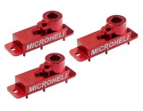 Microheli Aluminum Upper Servo Case set (RED) (for Spektrum H2060)