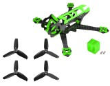 Microheli Carbon Fiber Frame (GREEN) with Props - EMAX Tinyhawk / Tinyhawk II Freestyle