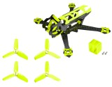 Microheli Carbon Fiber Frame (YELLOW) with Props - EMAX Tinyhawk / Tinyhawk II Freestyle
