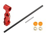 Microheli Aluminum Main Rotor Hub w/ Carbon Shaft Set (RED) - ESKY 150X / BLADE 70 S
