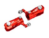 Microheli Double Bearing Weighted Tail Blade Grip set (RED) - BLADE FUSION 180