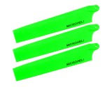 Microheli Plastic Triple Main Blade (For MH-MBL2001TGR Series)(GREEN)