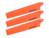 Microheli Plastic Triple Main Blade (For MH-MBL2001TOR Series)(ORANGE)