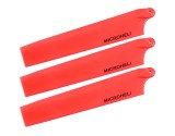 Microheli Plastic Triple Main Blade (For MH-MBL2001TRD Series)(RED)