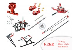 Microheli CNC Performance package (RED) - BLADE MCPS