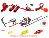 Microheli CNC Performance Package (RED) - BLADE NANO S2
