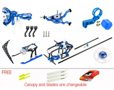 Microheli CNC Triple Blades Performance Package (BLUE) - BLADE NANO S2