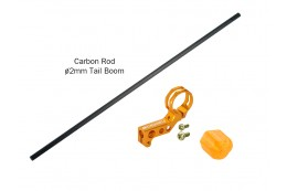 Microheli Aluminum Tail Motor Mount w/ Carbon Boom (GOLD) - BLADE NCPS/Nano S2