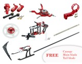 Microheli CNC Performance package (RED) - BLADE NANO CP S