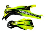 Microheli Airbrush Fiberglass Green Racing Canopy - NINJA 400MR