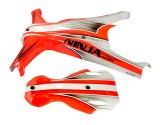 Microheli Airbrush Fiberglass Orange Racing Canopy - NINJA 400MR
