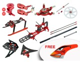 Microheli CNC Performance Package (RED) - WLTOYS V950